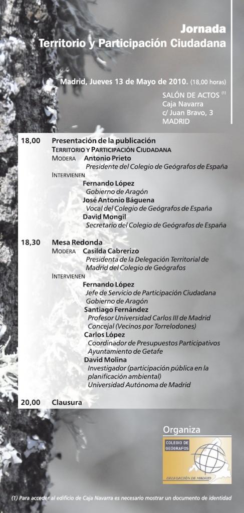 JORNADA TERRITORIO Y PARTICIPACION